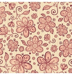 Ornate doodle flowers background vector