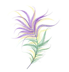 Ostrich feather mardi gras vector