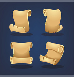 Parchment collection cartoon style for your vector