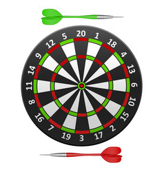 Realistic detailed dart board vector