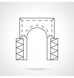 Rectangular arch flat line icon vector image
