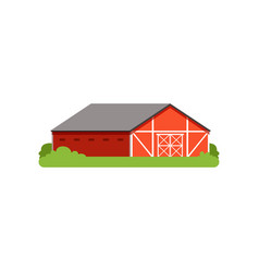 red barn agricultural building countryside life vector image