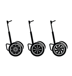Self-balancing electric scooters isolated on white vector