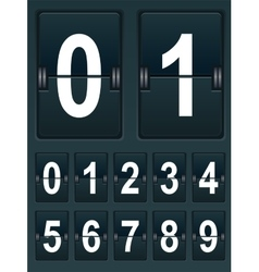 Set Numbers for sports scoreboard vector image