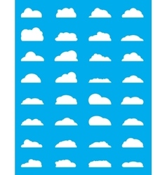 Set of different Cloud vector image