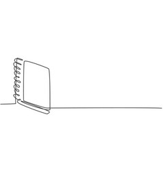 single continuous line drawing closed notepad vector image