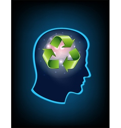 Smart thinking to recycle vector image