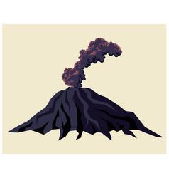 Smoking volcano vector