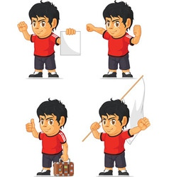 Soccer boy customizable mascot 15 vector