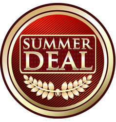 Summer deal icon vector