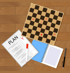 tactic business plan vector image
