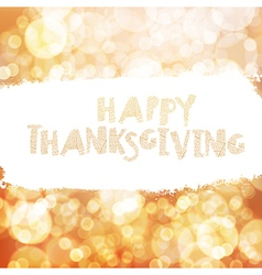 Typography Happy Thanksgiving greeting card Autumn vector