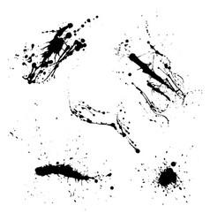 Various spray paint graffiti decorative splatters vector