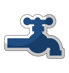Water tap isolated icon vector