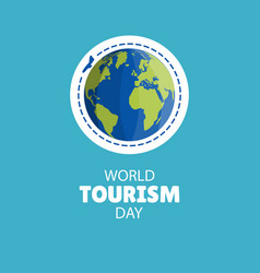 world tourism day vector image