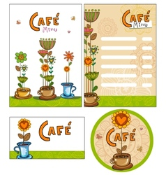 Corporate style for cafe or shop vector image vector image
