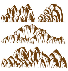different patterns of mountains vector image