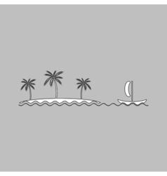 Island computer symbol vector image vector image