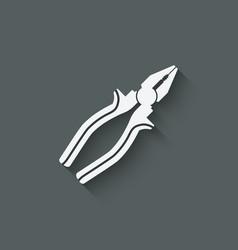 pliers repair symbol vector image vector image