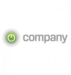 power start button logo vector image vector image