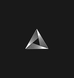 Triangle logo linear infinity geometric pyramid vector