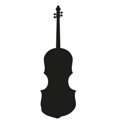 violin silhouette music instrument vector image