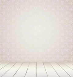 White vintage interior vector image vector image