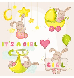 Baby Bunny Set - for Baby Shower vector image vector image