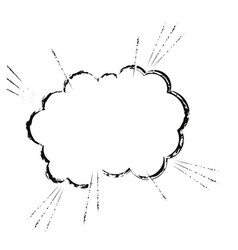 cloud comic speech chat sketch vector image