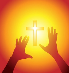 religion silhouette vector image