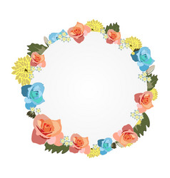 watercolor frame with flowers vector image