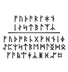 Younger Runes and The Northumbrian Order vector image