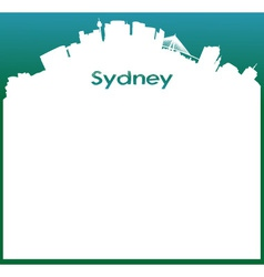 background with Sydney Skyline vector image vector image