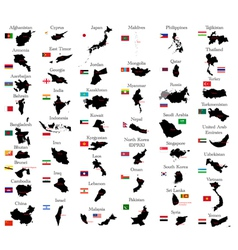 Countries of Asia vector image