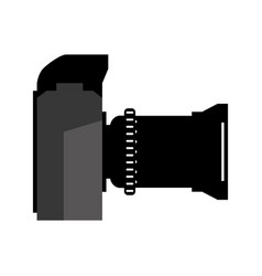 photographic camera professional vector image