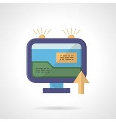 Web marketing flat color icon vector image