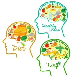 good diets icons vector image vector image