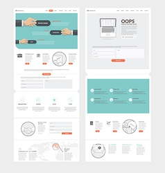 Website template with concept icons for business vector image vector image
