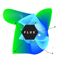 3d colorful wave background dynamic flux effect vector