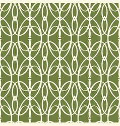 Abstract seamless green elements pattern vector