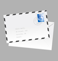 air mail envelope isolated on white background vector image