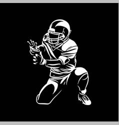American football players catch ball vector