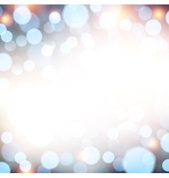 Blue christmas lights background vector image