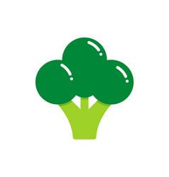 Broccoli logo vegan label design vector