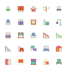Building and Furniture Icons 15 vector image