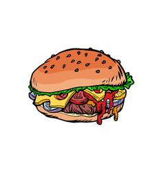 Burger fast food vector