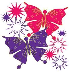 Butterfly Starburst vector