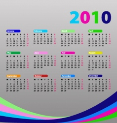 calendar for 2010 vector image