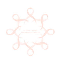 Cancer ribbon peach color vector