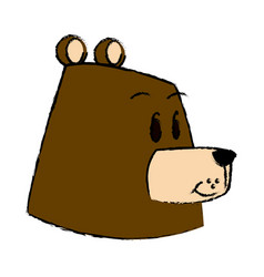 cartoon bear forest animal character vector image